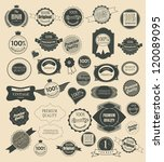 set of retro vintage labels ... | Shutterstock .eps vector #120089095