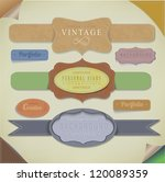 set retro vintage ribbons and... | Shutterstock .eps vector #120089359