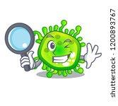 detective cartoon microba virus ... | Shutterstock .eps vector #1200893767