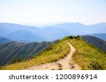 Hiking Path To A Mountain Peak...