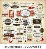 christmas decoration collection ... | Shutterstock .eps vector #120090565