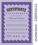 violet diploma or certificate...   Shutterstock .eps vector #1200916111