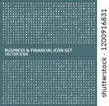 business vector icon set | Shutterstock .eps vector #1200916831