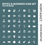 business vector icon set | Shutterstock .eps vector #1200916834
