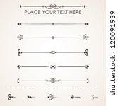 set calligraphic design...   Shutterstock .eps vector #120091939
