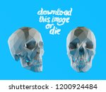 cursed white vector low poly... | Shutterstock .eps vector #1200924484