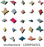 amorphous abstract 2d shapes in ... | Shutterstock .eps vector #1200926521