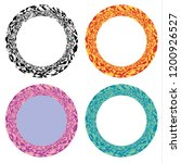 circular wreaths adorned with a ... | Shutterstock .eps vector #1200926527