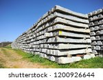 railroad concrete sleepers... | Shutterstock . vector #1200926644