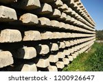 railroad concrete sleepers... | Shutterstock . vector #1200926647