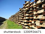 railroad concrete sleepers... | Shutterstock . vector #1200926671