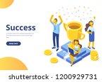 business people celebrating... | Shutterstock .eps vector #1200929731