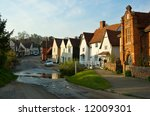 a beautiful english village in...