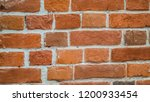 wall of old red brick with... | Shutterstock . vector #1200933454