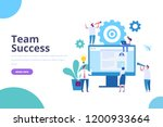 business team success. web... | Shutterstock .eps vector #1200933664