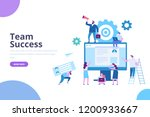 business team success. web... | Shutterstock .eps vector #1200933667