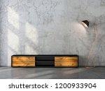 modern black tv console mockup...   Shutterstock . vector #1200933904