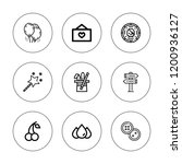 shiny icon set. collection of 9 ... | Shutterstock .eps vector #1200936127
