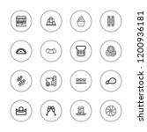 croissant icon set. collection... | Shutterstock .eps vector #1200936181