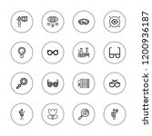 eyesight icon set. collection... | Shutterstock .eps vector #1200936187