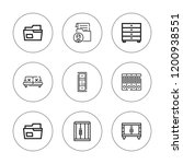 drawer icon set. collection of... | Shutterstock .eps vector #1200938551