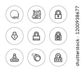 keyhole icon set. collection of ... | Shutterstock .eps vector #1200938677