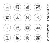 machinery icon set. collection...   Shutterstock .eps vector #1200938704