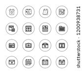 agenda icon set. collection of... | Shutterstock .eps vector #1200938731