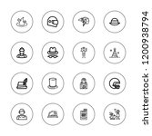 occupation icon set. collection ... | Shutterstock .eps vector #1200938794