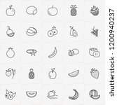 berries and fruits line icon... | Shutterstock .eps vector #1200940237