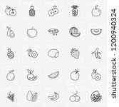berries and fruits line icon... | Shutterstock .eps vector #1200940324