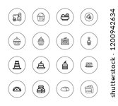 muffin icon set. collection of...   Shutterstock .eps vector #1200942634