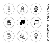 electricity icon set.... | Shutterstock .eps vector #1200942697