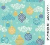 seamless pattern with snowy... | Shutterstock .eps vector #120094444