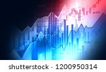stock market or forex trading... | Shutterstock . vector #1200950314