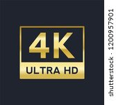 4k ultra hd vector gold sign | Shutterstock .eps vector #1200957901