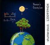 newton's gravity low... | Shutterstock .eps vector #1200959404