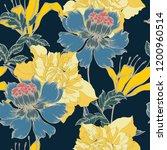 beautiful seamless floral... | Shutterstock .eps vector #1200960514
