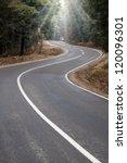 Asphalt Winding Road Passes...