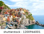 panoramic view of manarola... | Shutterstock . vector #1200966001
