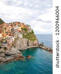 panoramic view of manarola... | Shutterstock . vector #1200966004