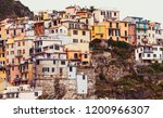 colorful houses in manarola... | Shutterstock . vector #1200966307