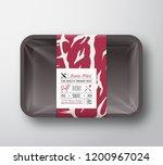 premium quality lamb fillet... | Shutterstock .eps vector #1200967024
