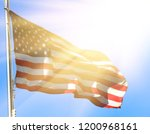 national flag of america on a... | Shutterstock . vector #1200968161