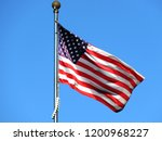 national flag of america on a... | Shutterstock . vector #1200968227