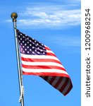 national flag of america on a... | Shutterstock . vector #1200968254