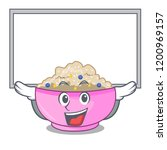 up board character a bowl of... | Shutterstock .eps vector #1200969157