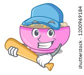 playing baseball character a... | Shutterstock .eps vector #1200969184