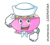 sailor character a bowl of... | Shutterstock .eps vector #1200969364