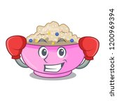 boxing character a bowl of... | Shutterstock .eps vector #1200969394